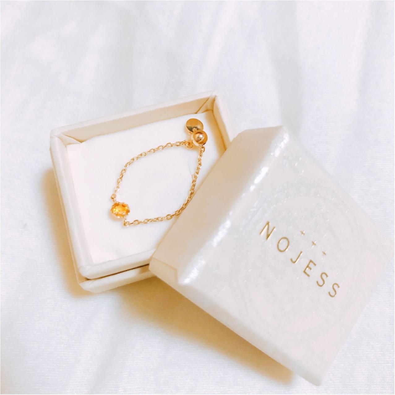 ノジェス 3月誕生石K10チェーンピンキーリング/ (NOJESS)