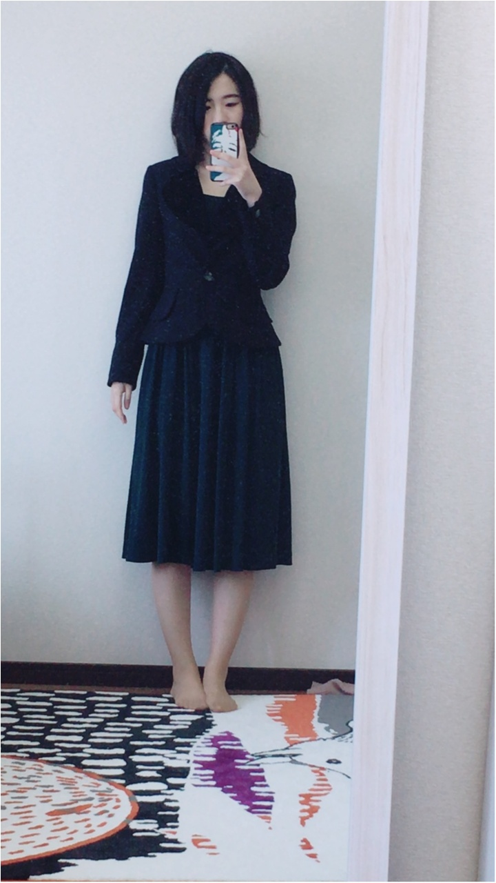 【お呼ばれドレス】ミモレ丈×濃グリーンで落ち着いた雰囲気に!普段も気軽に使えちゃう洗えるドレス!_2
