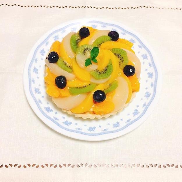 《趣味ろぐ》頂いたフルーツ缶で★華やかフルーツタルト_4