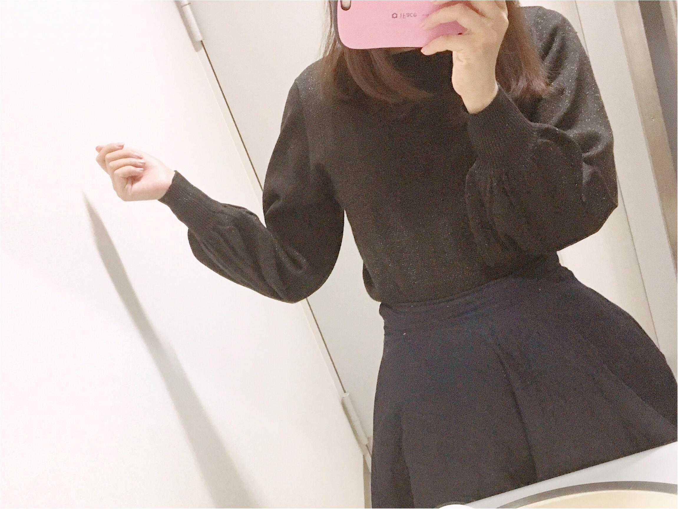 【GU】『ラメパフスリーブセーター』は、あまり取り上げられていない隠れヒット服!_3