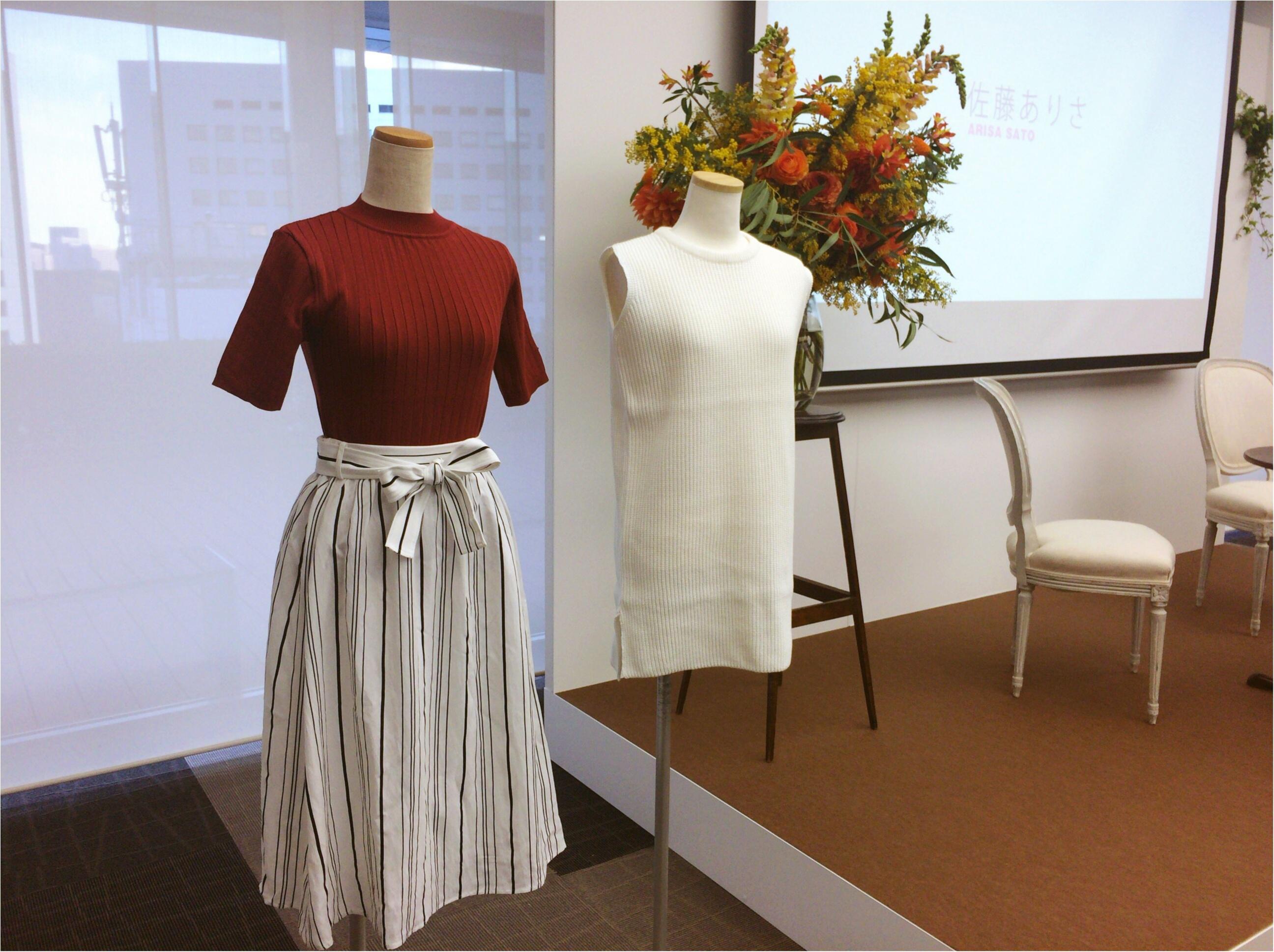 佐藤ありさコラボ服『FlowerDays』流行《ストライプ》リネン風スカートは着回しも着心地も楽チン!_2