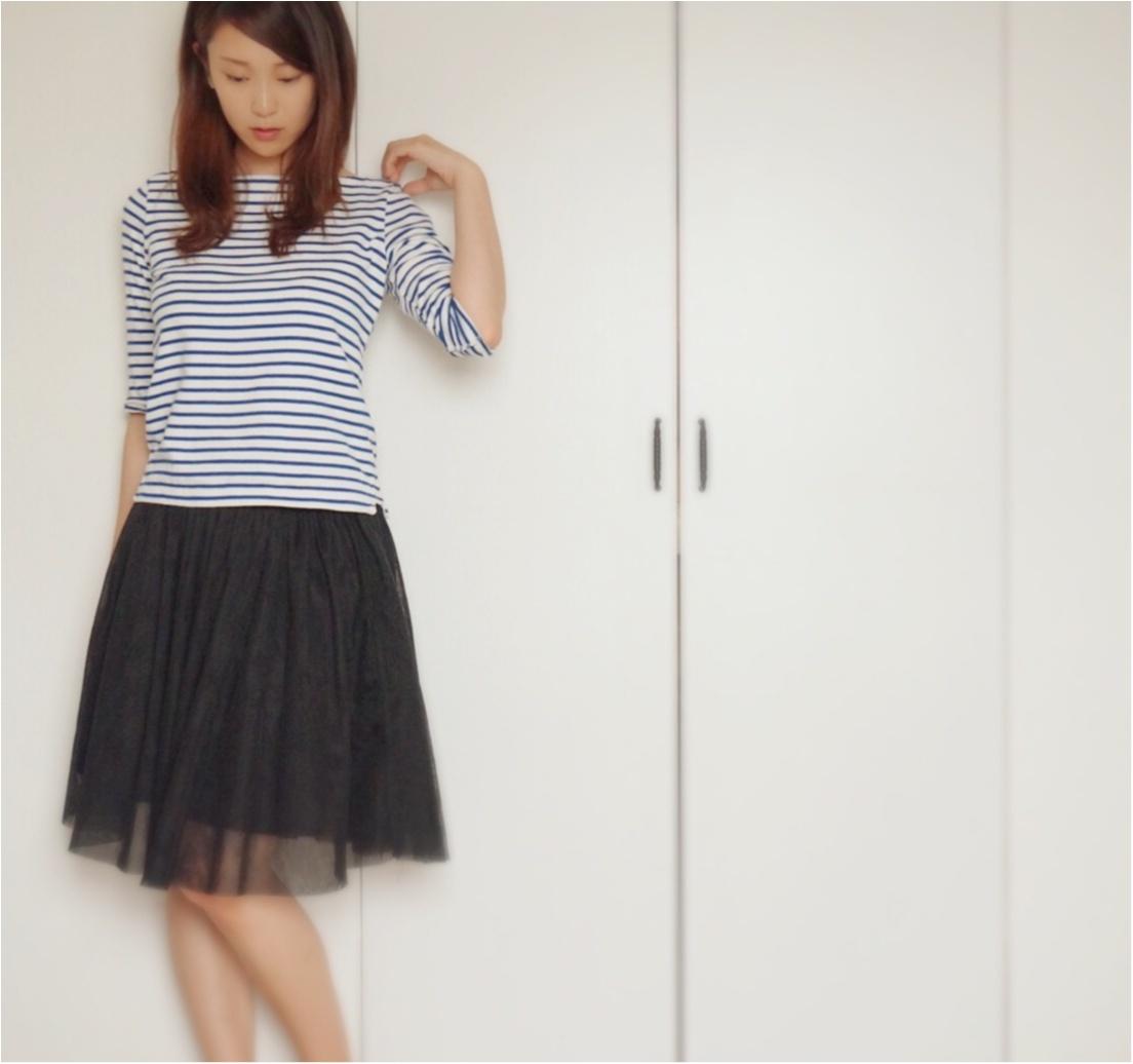 【Q♡code】私はこう着る!夏の黒は《マリン×チュール》で爽やかに❤️_2