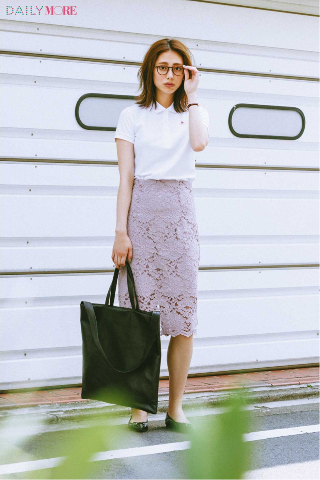 【今日のコーデ/土屋巴瑞季】気分を一新したい水曜日は、ポロシャツ×レーススカートで新鮮テイストMIX!_1