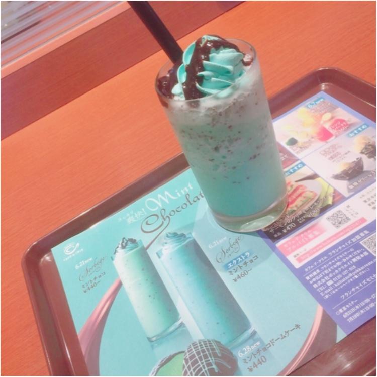 夏に甘くてクールな飲み物《ソルベージュ ミントチョコ》6/21新発売!❁こちらのカフェで飲みました♥︎_2