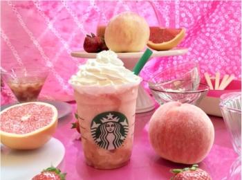『スタバ』次なる新作は、ぜ~んぶピンク♡ 「ピーチ ピンク フルーツ フラペチーノ」7/20(金)発売!!