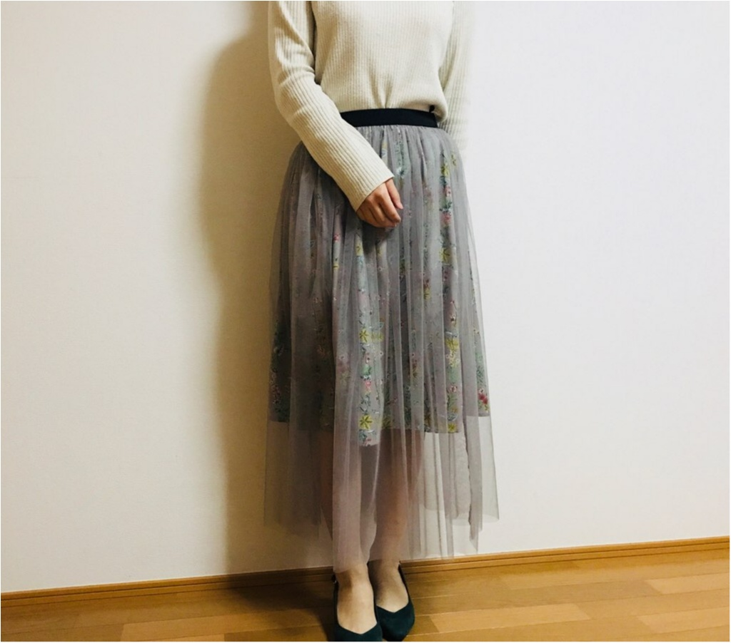 """春コーデに""""透け感""""は必須!【N.Natural Beauty Basic】の《チュールスカート》で春コーデを組んでみました♡♡_3"""