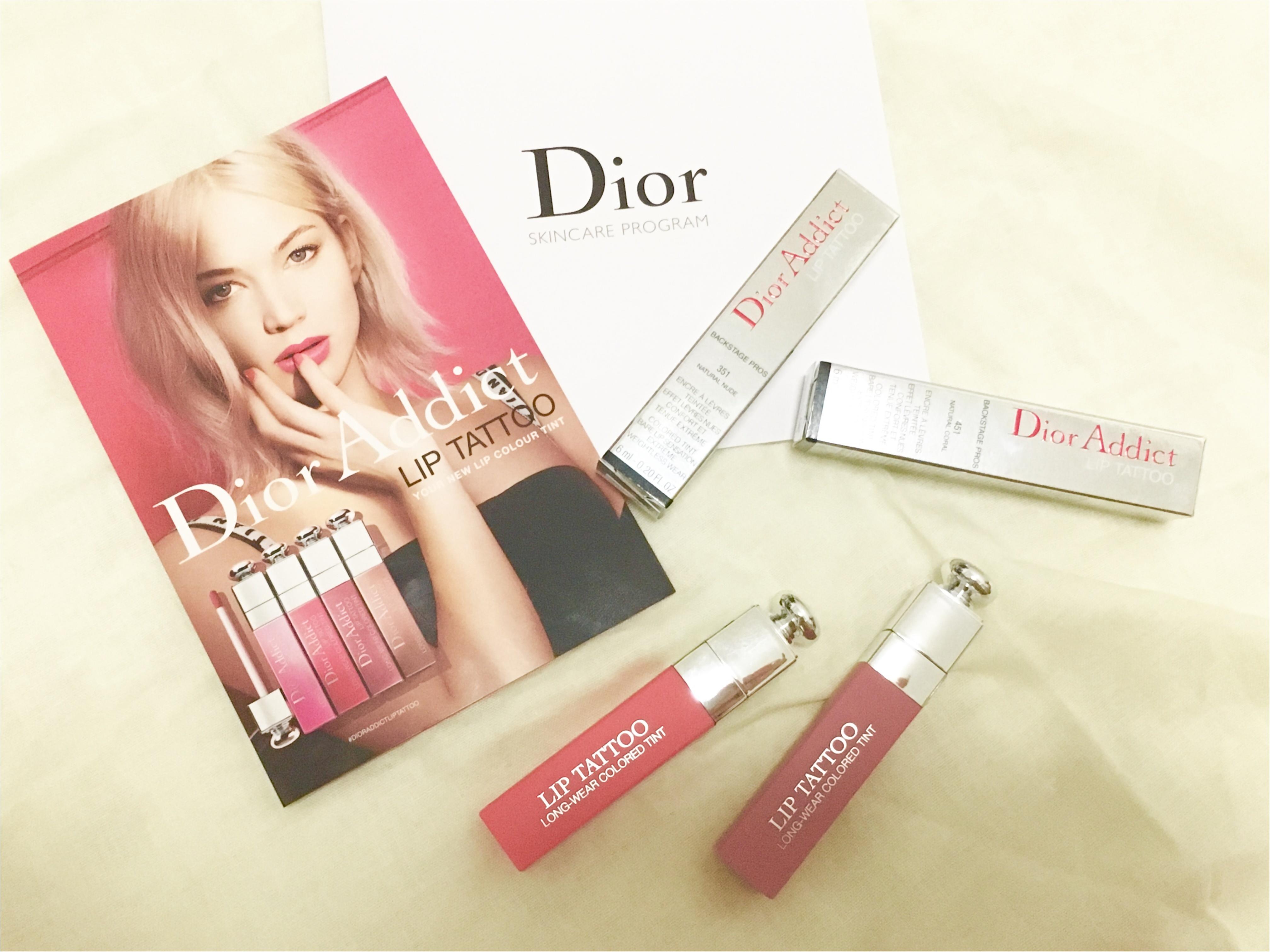 話題のリップが先行発売中❤️10時間耐久⁈【Dior ADDICT】リップタトゥーが超優秀!!_8