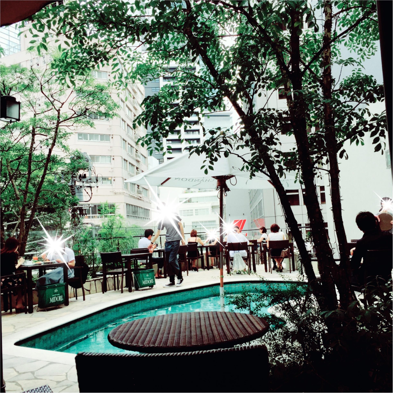 《都会のオアシス♡渋谷347cafe》プールサイドでおしゃれランチ女子会はいかが?_1