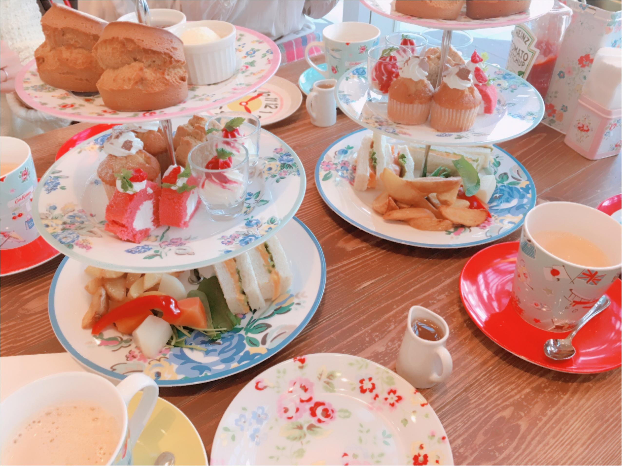《ご当地モア❤︎神奈川》日本でココだけ【Cath Kidston(キャスキッドソン)】かわいいカフェでアフタヌーンティー*°_2