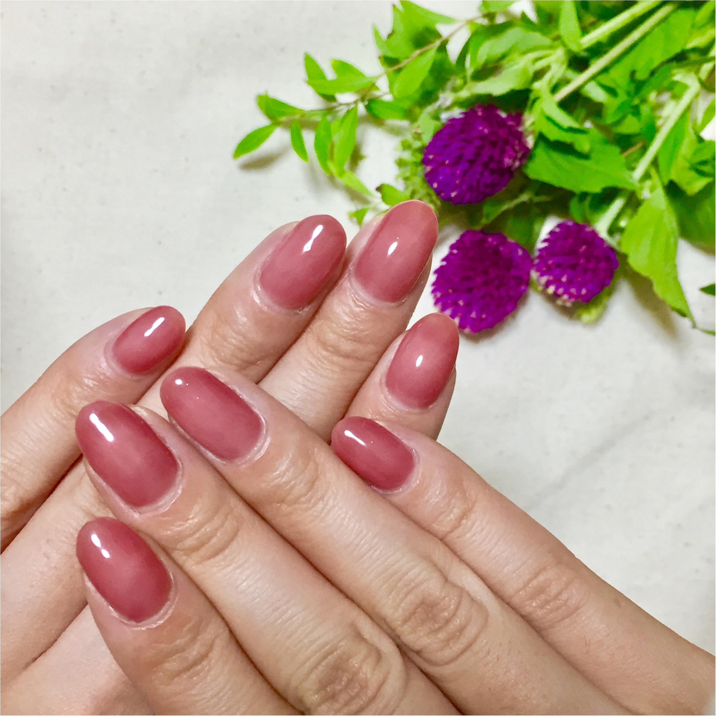 【ネイル】くすみピンクで秋を先取り。_1