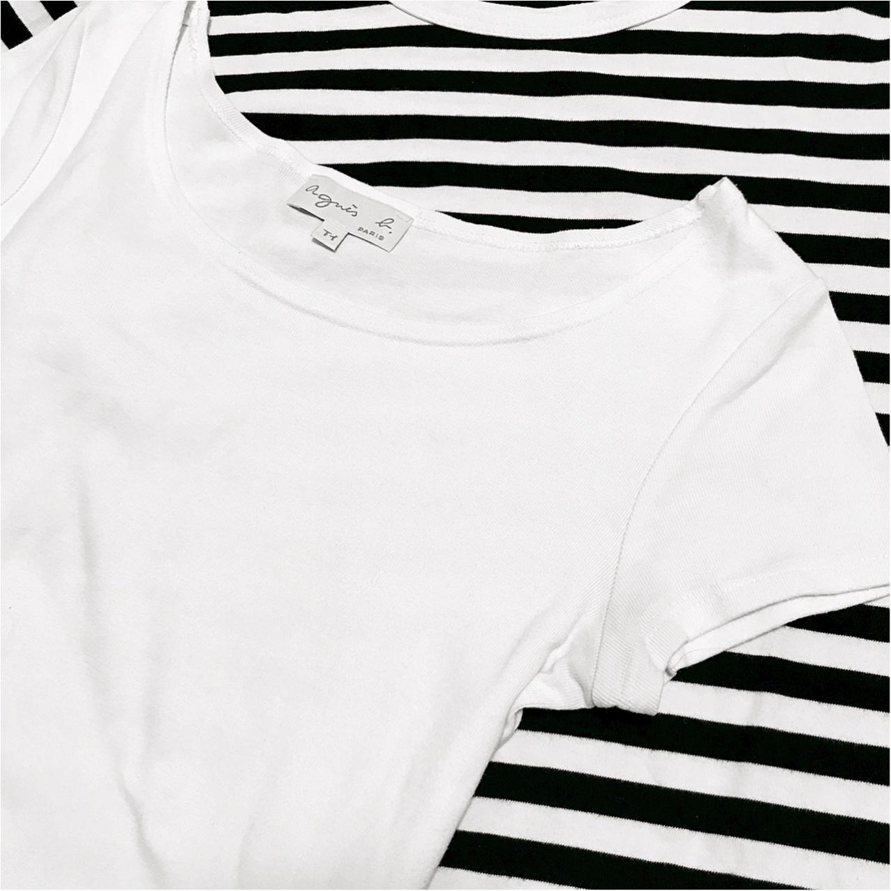 【agnes b.】きれいめにもカジュアルにも。一生モノの《白Tシャツ》!_1