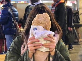 《台湾女子旅》食べてみて!士林夜市の顔より大きいフライドチキン