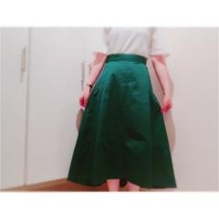 ▷夏から秋まで❤︎【グリーンスカート】でレディなOFFSTYLE