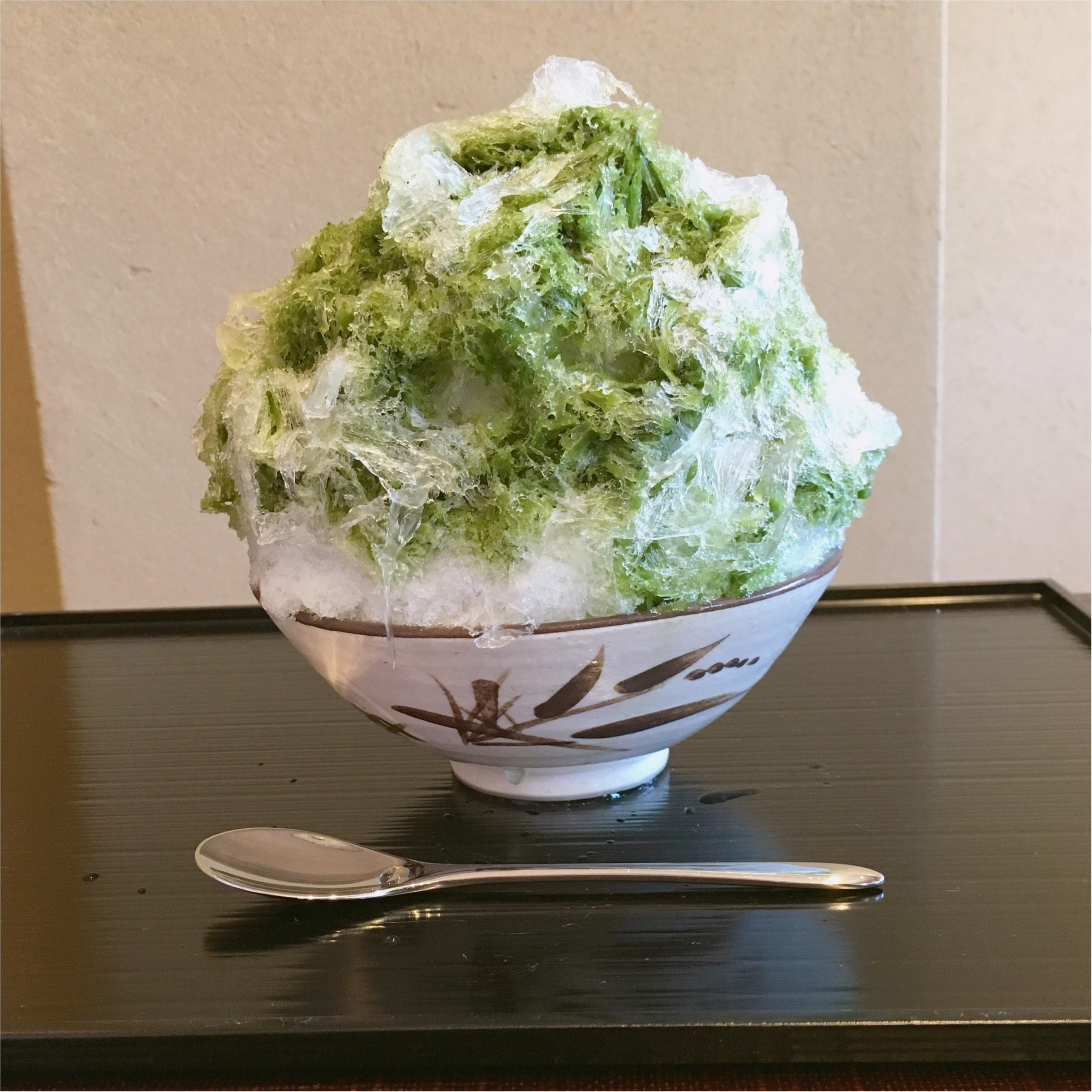 夏になったら食べたい♡ お茶屋さんが作るふわふわ《 抹茶かき氷 》がたまらない♡_3