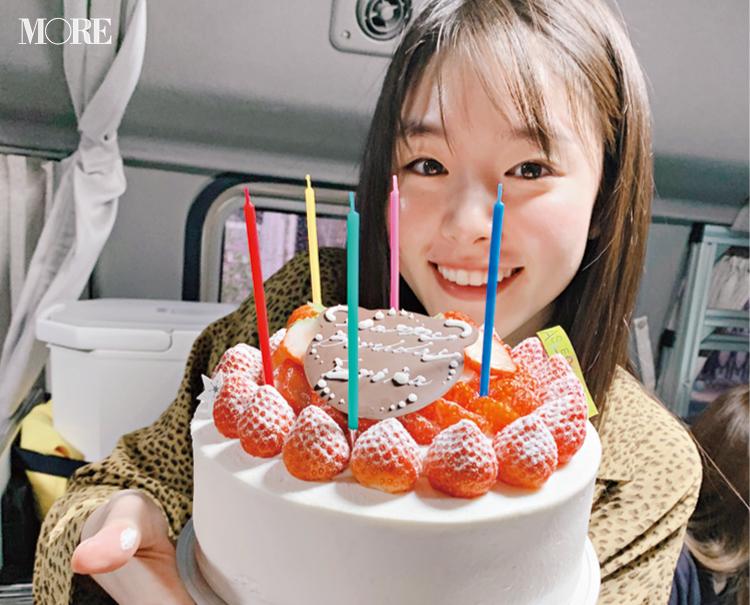 唐田えりかが22歳に♡ 撮影の合間にも、いっぱいお祝いしたのでした【モデルのオフショット】_1