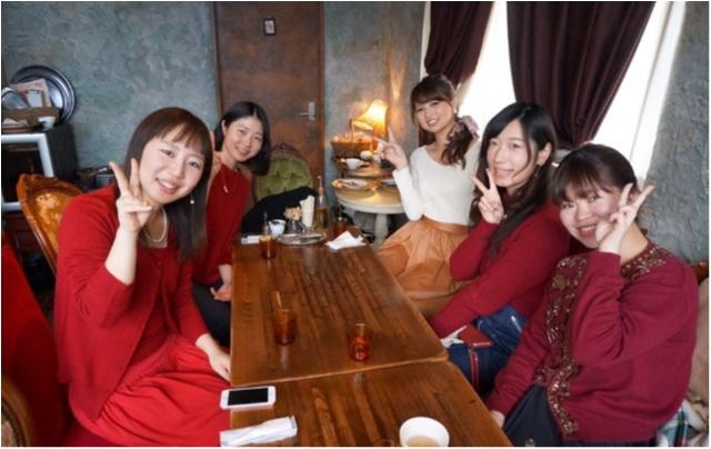 ドレスコードは赤❤️表参道のオシャレなお店で女子会_10