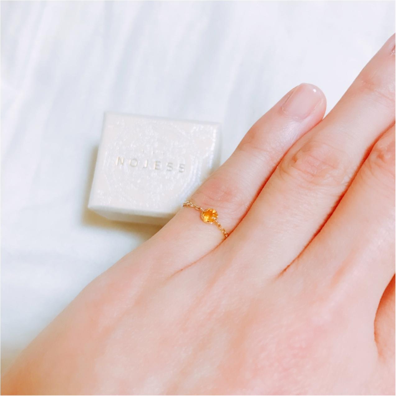 自分への誕プレは【NOJESS(ノジェス)】の誕生石ピンキーリング♡_2
