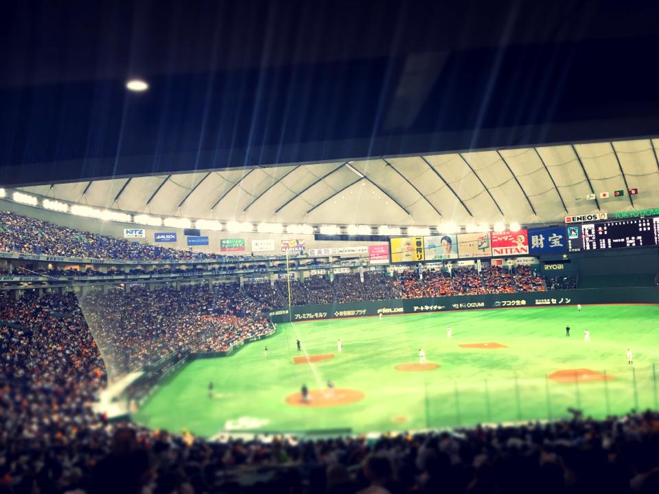 初めての立ち見野球観戦★あなたの顔が東京ドームのスクリーンに!?_4