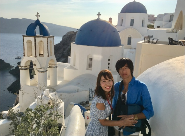 青と白の世界♡憧れのサントリーニ島へ♡_3