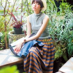 【今日のコーデ】のんびりお散歩デートの日は、マキシスカートでこなれた女の子スタイルに♡
