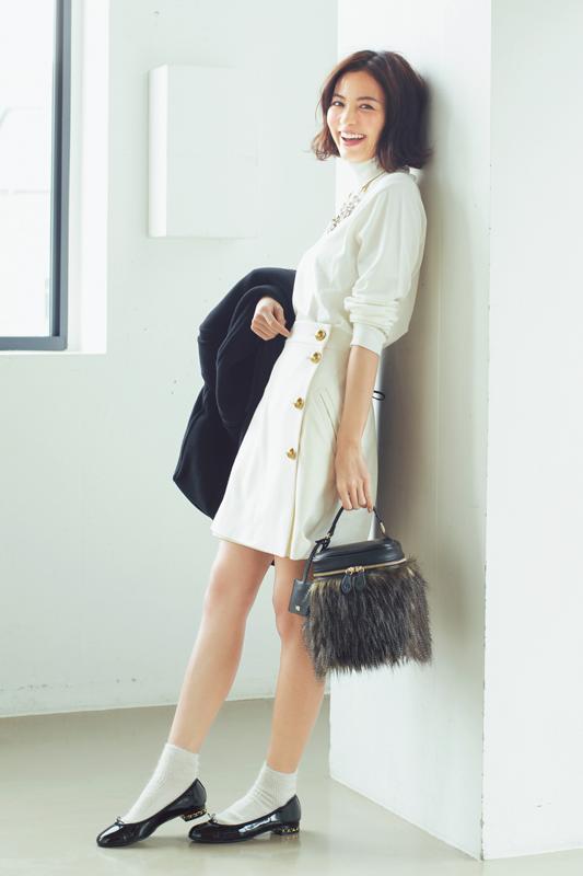 【今日のコーデ/矢野未希子】映画デートの水曜日はオールホワイトで決めてく♡_1