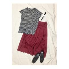 【この夏→秋もUNIQLOが熱い】シンプルなのに可愛い☆ボリュームスカート