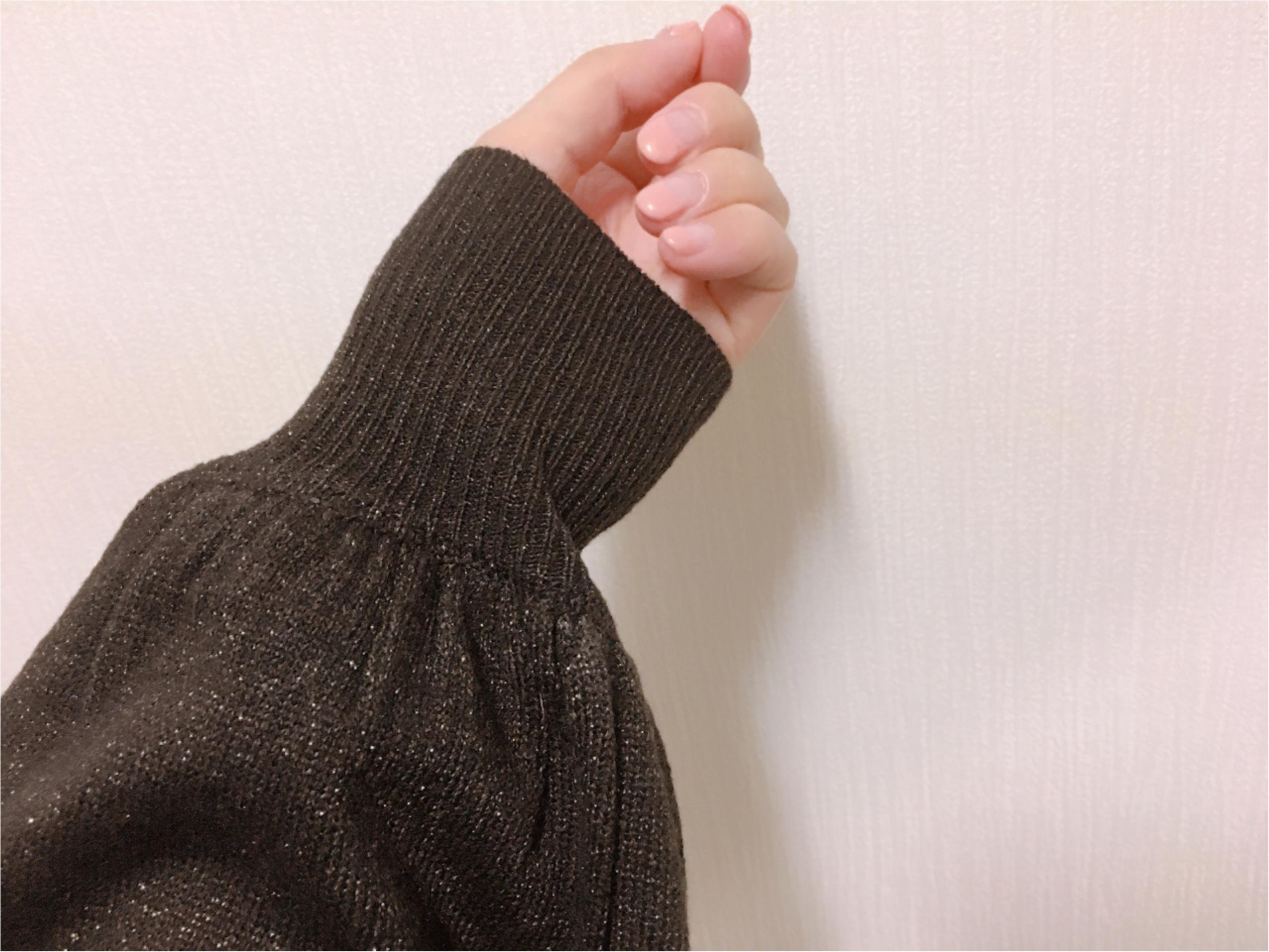 【GU】『ラメパフスリーブセーター』は、あまり取り上げられていない隠れヒット服!_4