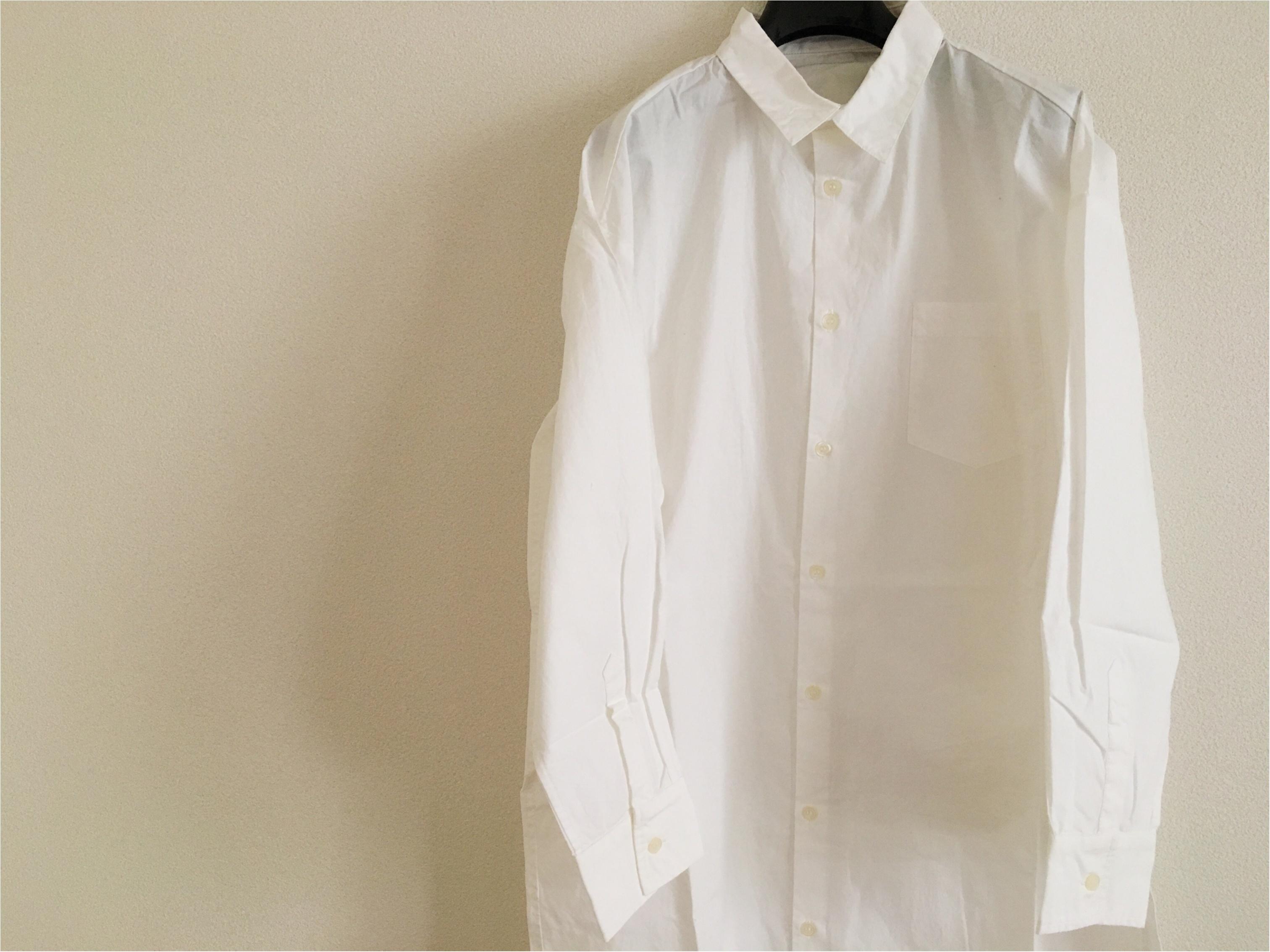 ★《白のシャツワンピ》が使える!一泊二日の旅行でも違う着方でイメージチェンジ♩♩_1