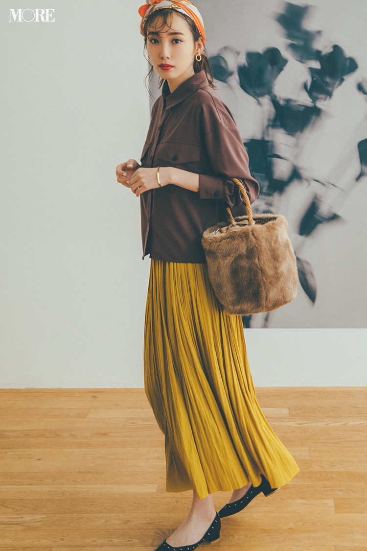 秋コーデ特集《2019年版》- トレンドのブラウンや人気のワンピース・スカートでつくる、20代におすすめのレディースコーデ_10
