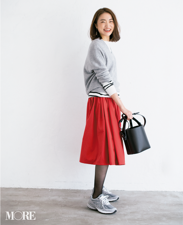 【読者変身】無難、甘すぎ、いつも同じ……きれい色スカートのお悩み、スタイリスト高野さんが解決します☆_5_5
