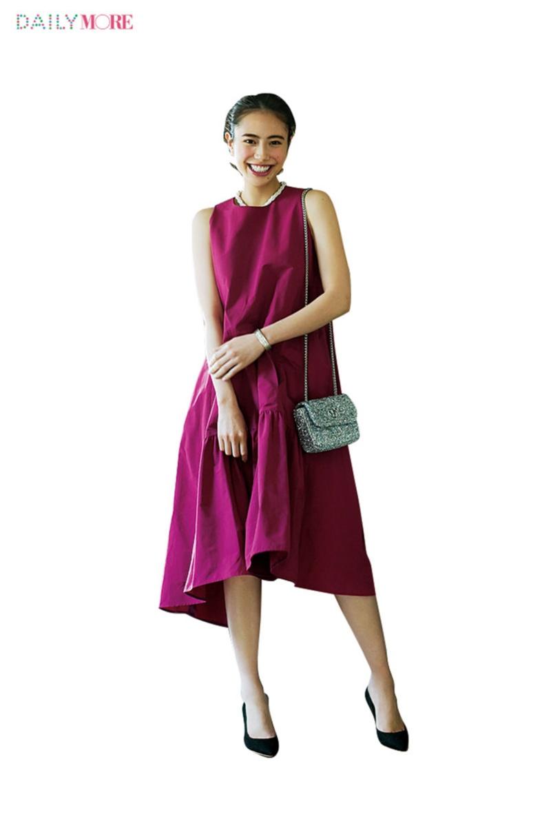 おしゃれもマナーもちょうどいい【お招ばれワンピ】って? きれい色なら「ベリーピンク」が正解です!_2_1
