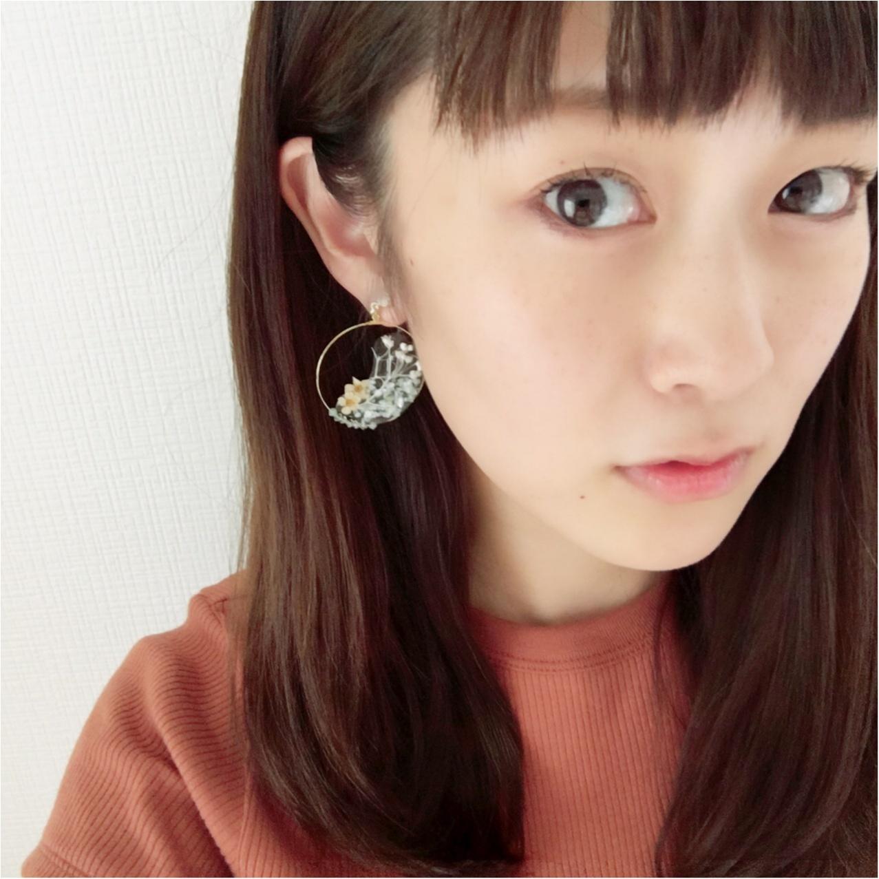 【レシピ公開】ナチュラル可愛いハンドメイドのボタニカルイヤリング♡_4