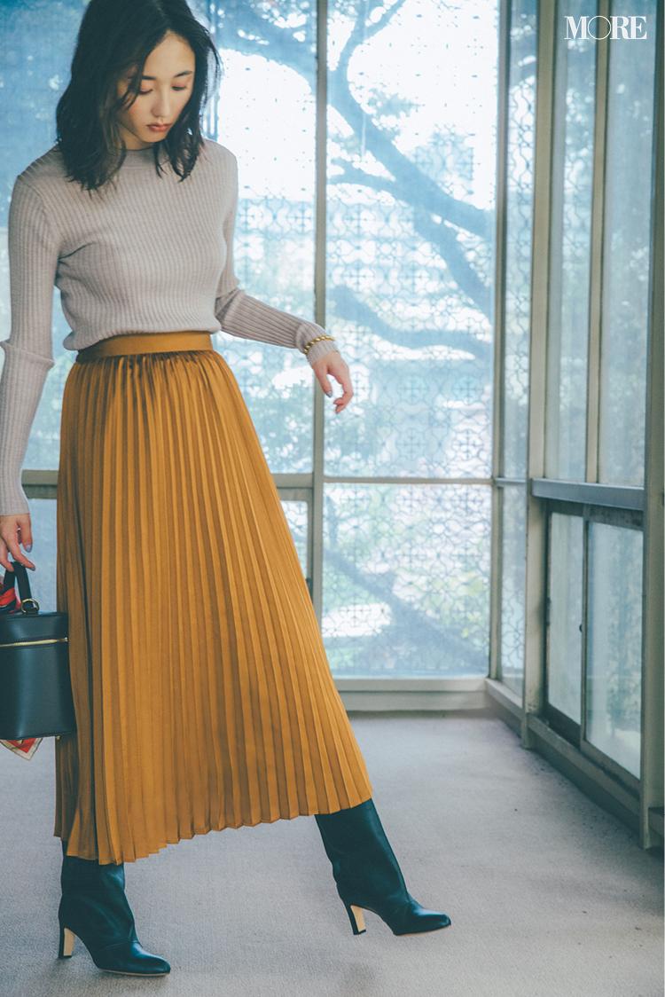 ロングスカートコーデ特集《2019秋》- プリーツスカートやチェック柄スカートなど、旬のスカートコーデまとめ_15