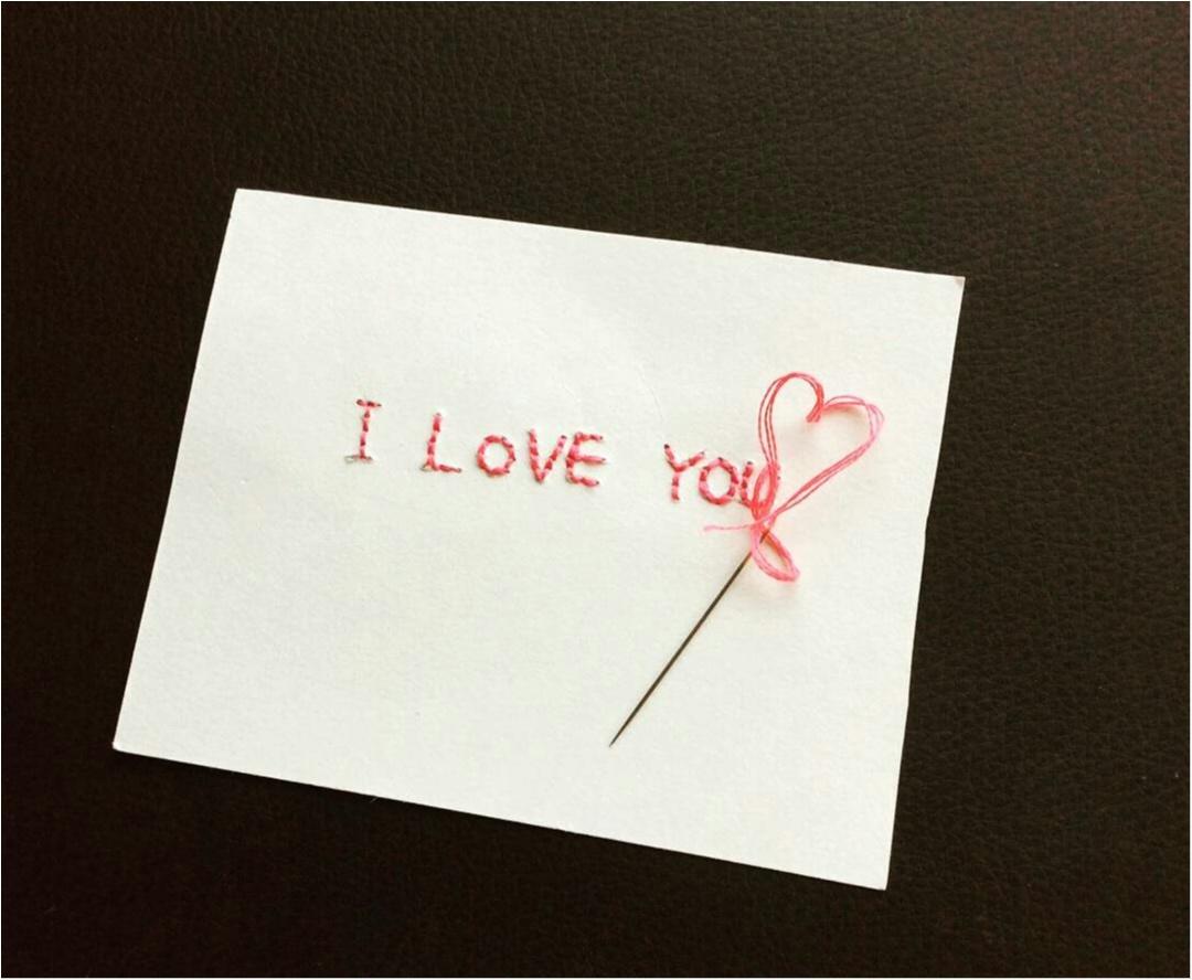 思いが伝わる?紙刺繍に愛を込めて…♡♡♡♡_1