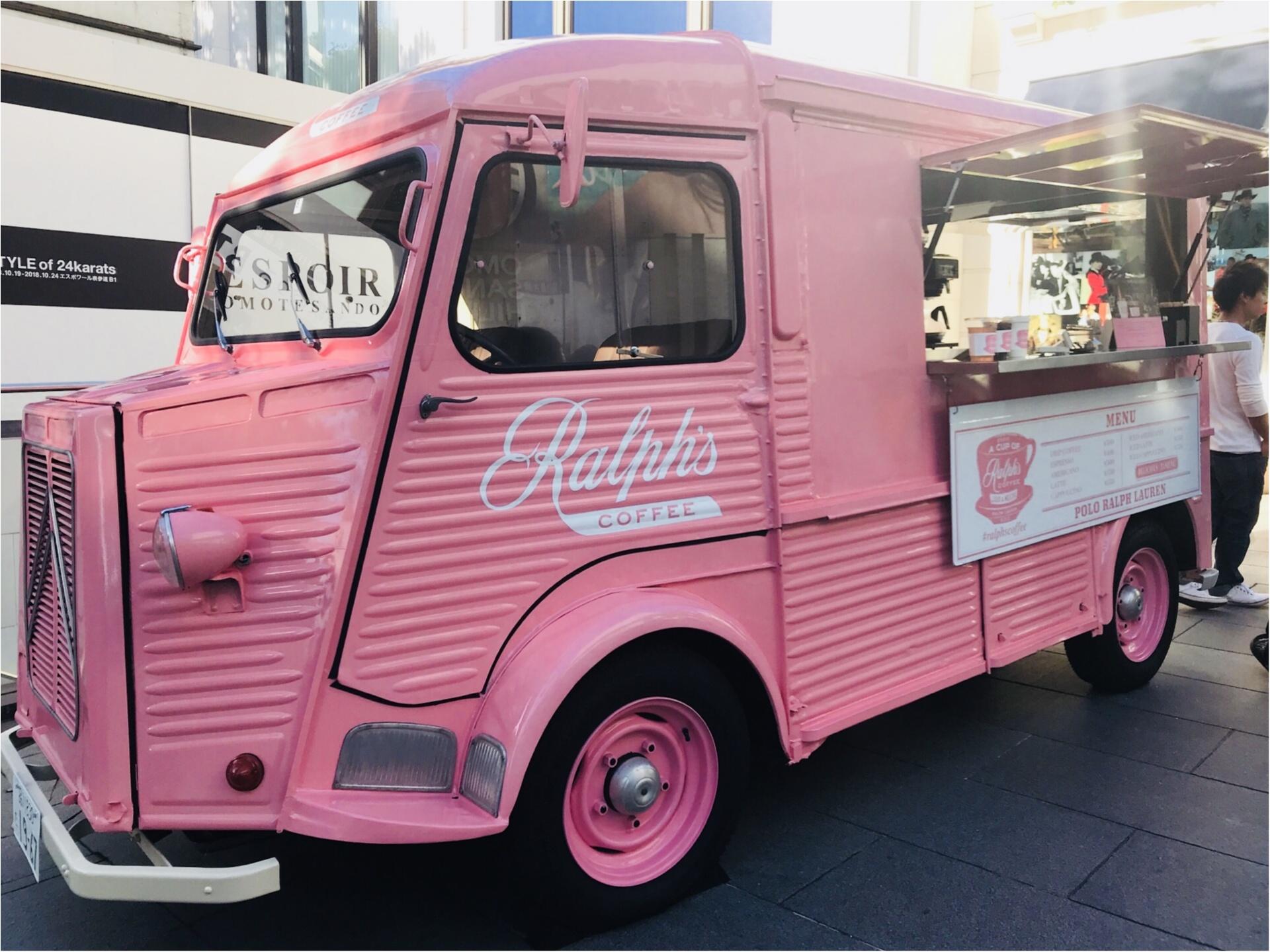 期間限定で《ラルフズコーヒートラック》がピンク色に!限定ピンクレモネードが美味♡_1