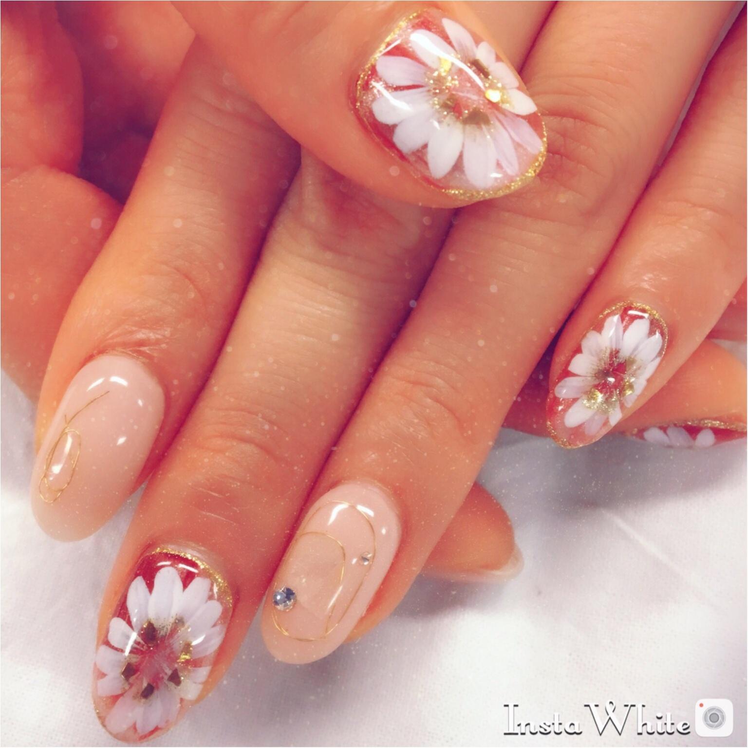 【5月春ネイル】やっぱりお花はアートが1番♡_1