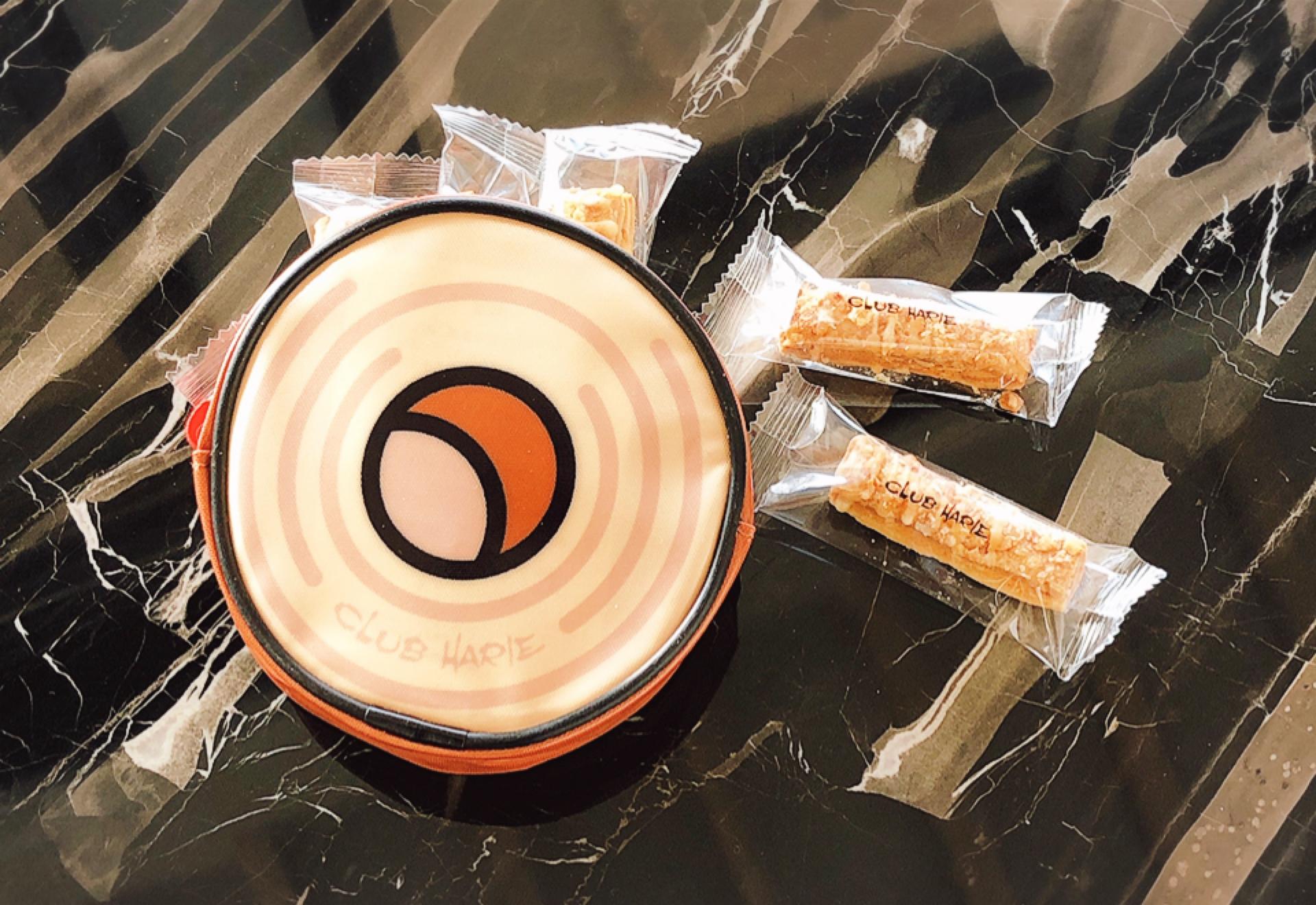【クラブハリエ】#滋賀県 ふんわり生どら焼きが美味!可愛いバームクーヘン型ポーチの中にはパイが(*´꒳`*)_4