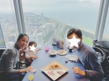 《子連れランチにおすすめ》地上50階でお食事が楽しめるスカイダイニングマクハリへ♡