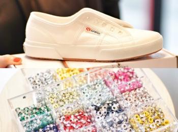 『スペルガ』の白スニーカーを自分流に!『オデット エ オディール』店舗でカスタマイズイベント開催☆