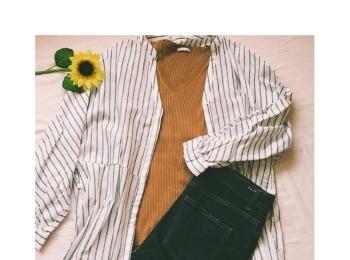 この夏トレンドの《レイヤードコーデ》もプチプラで★【ZARA】のセールでシャツガウン¥2,990をゲット❤️