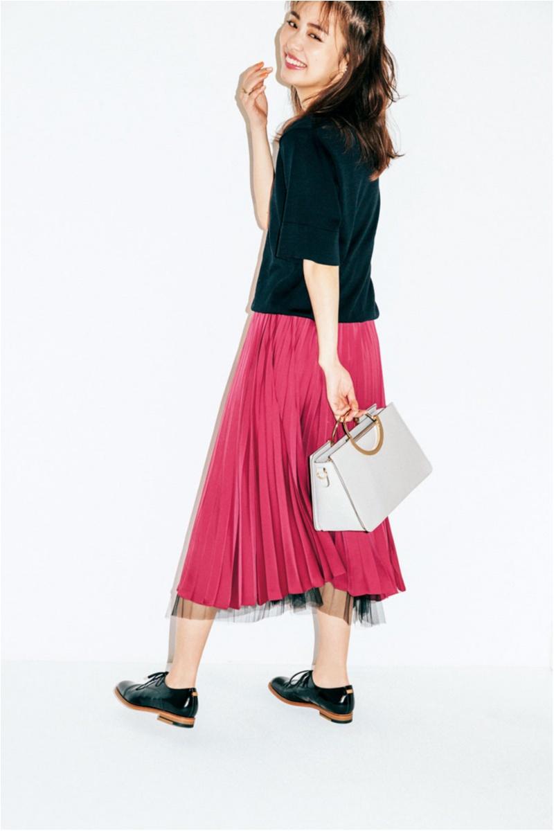 スカート,着やせ,やせ見え,ピンク,プチプラ