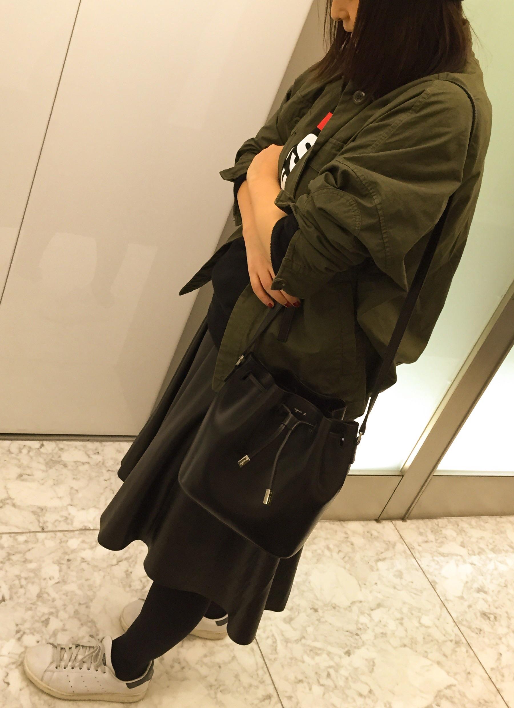 【コレ買っちゃいました!】アニエスベー ボヤージュ の巾着ショルダー_1