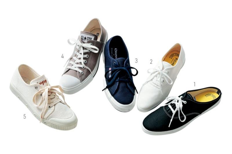 スニーカーの合わせ方。スカートには?パンツには? 迷ったら靴のボリューム感に注目!_3