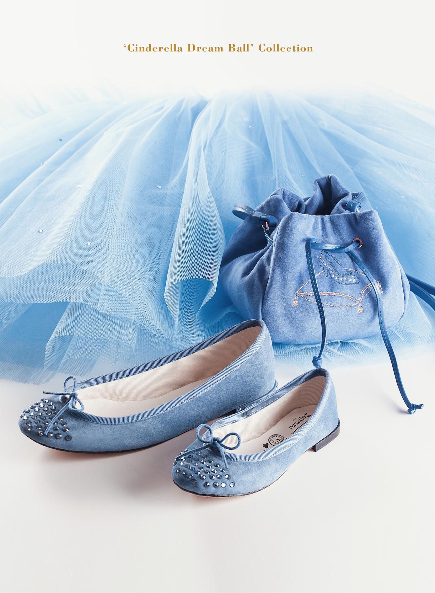 レペット×シンデレラのコラボは、ドレスと同じブルーのアイテム♡_1