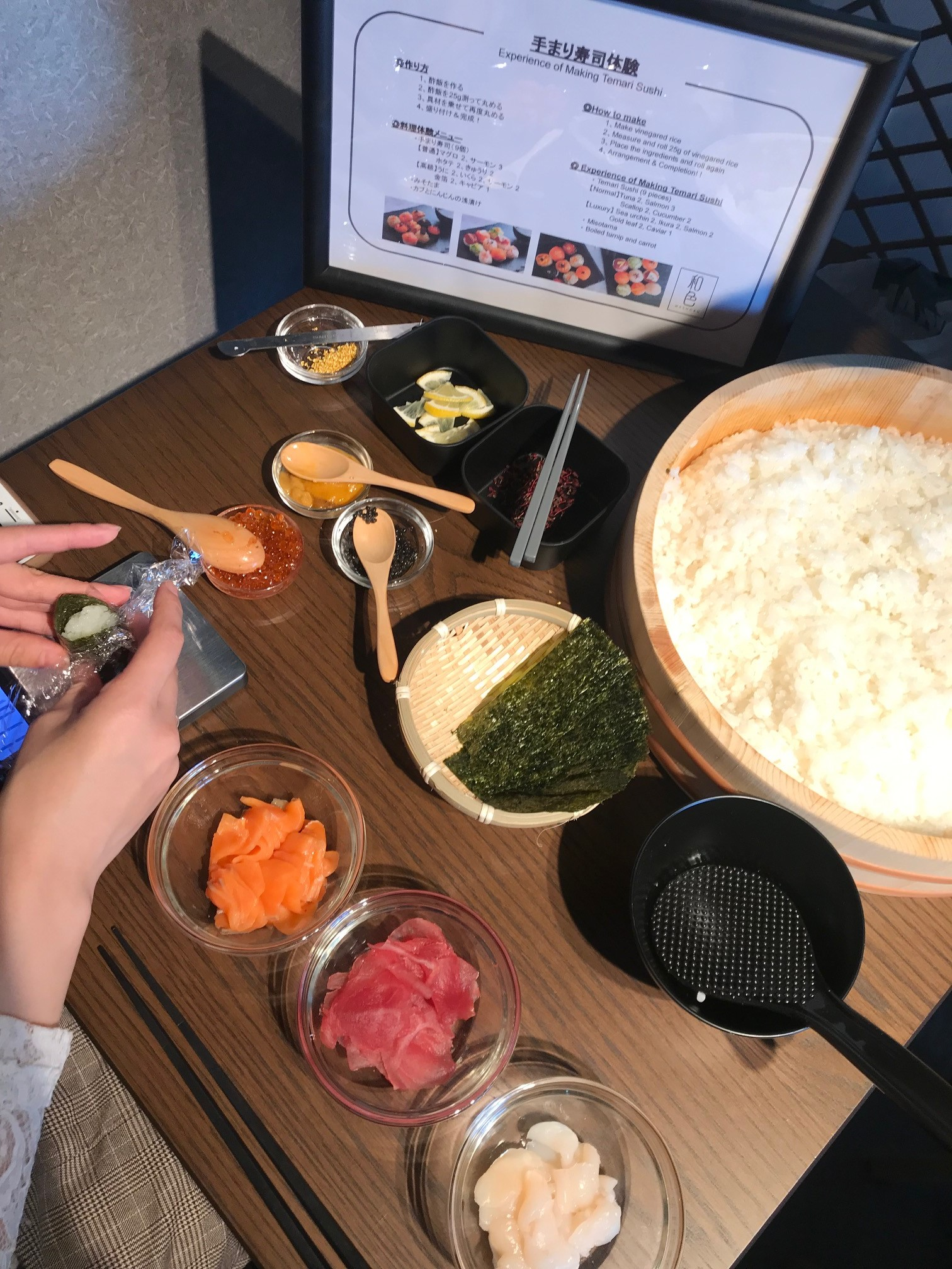 浅草でオリジナル手まり寿司を作ろう! 『体験Dining 和色 -WASHOKU-』で2020年最初の女子会してみない?_4