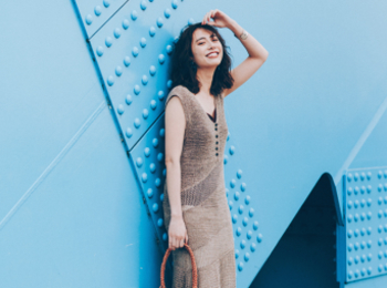 涼しげで、スタイルも良く見えて、最高だ!クロシェニットワンピをこの夏の勝負服に♡