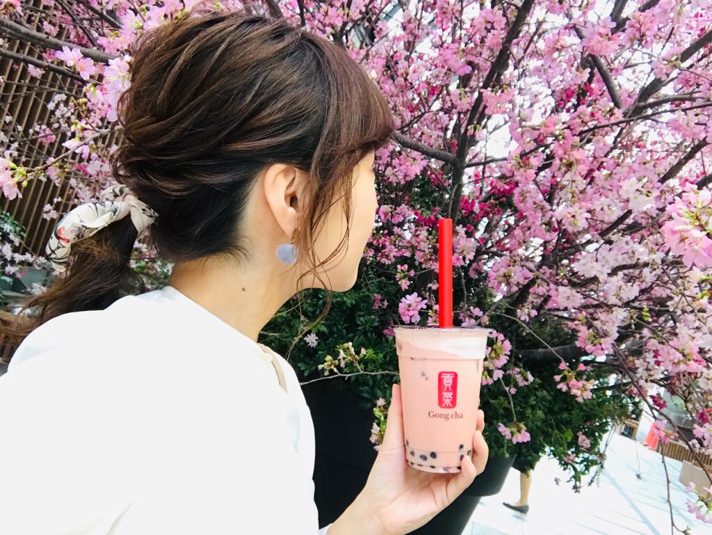 【Gong Cha】タピオカドリンクも春仕様♪《苺×ミルクティー×タピオカ》の最強コラボ♡_5