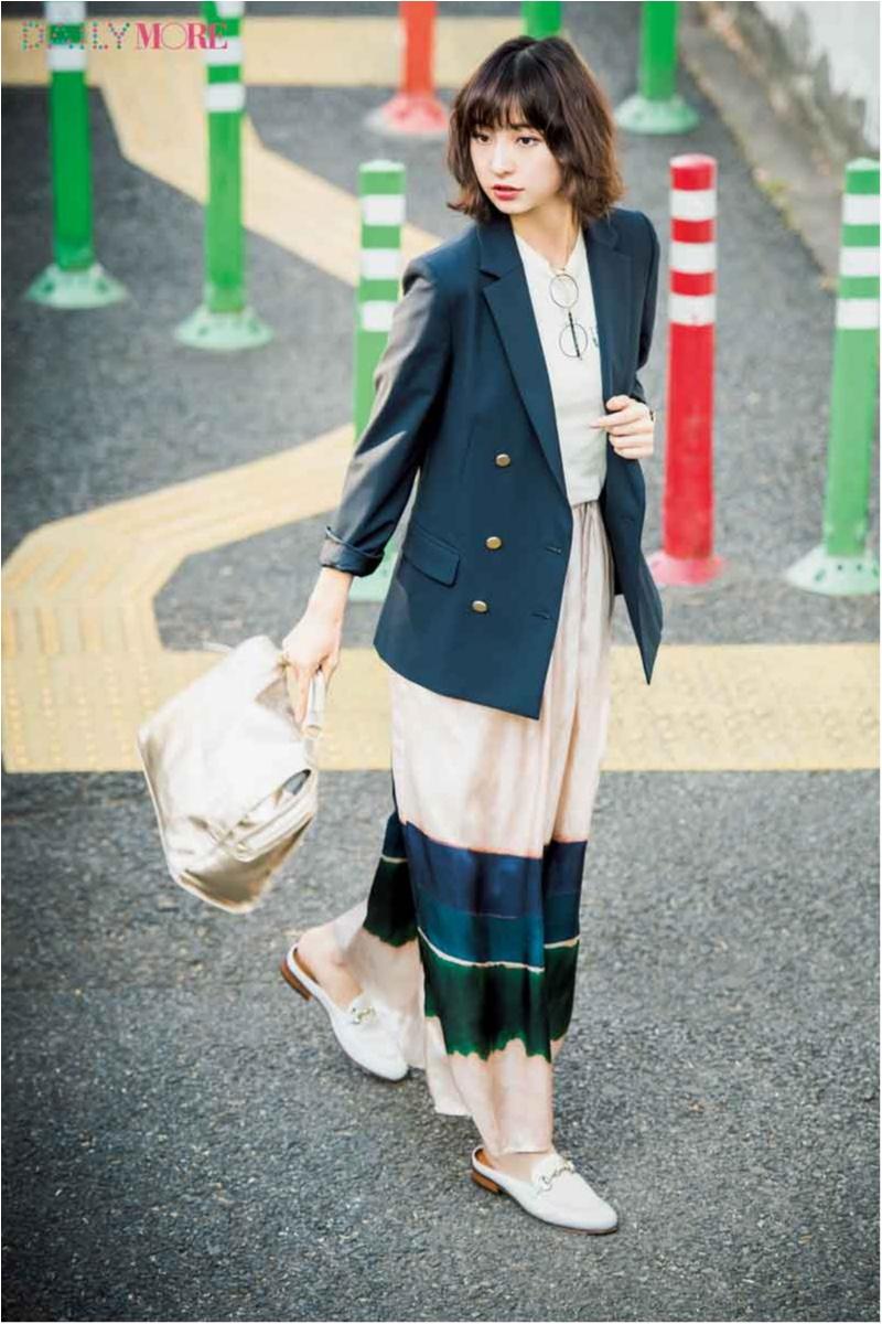 【今日のコーデ/篠田麻里子】ローファースリッパなら楽してきちんと見え。ジャケットをゆるく着たいときにもぴったり♡_1