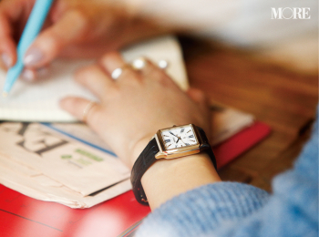 革ベルトの腕時計なら、アクセに似合う、引き立て合う! 「先輩見え」ウォッチで気持ちを上げて