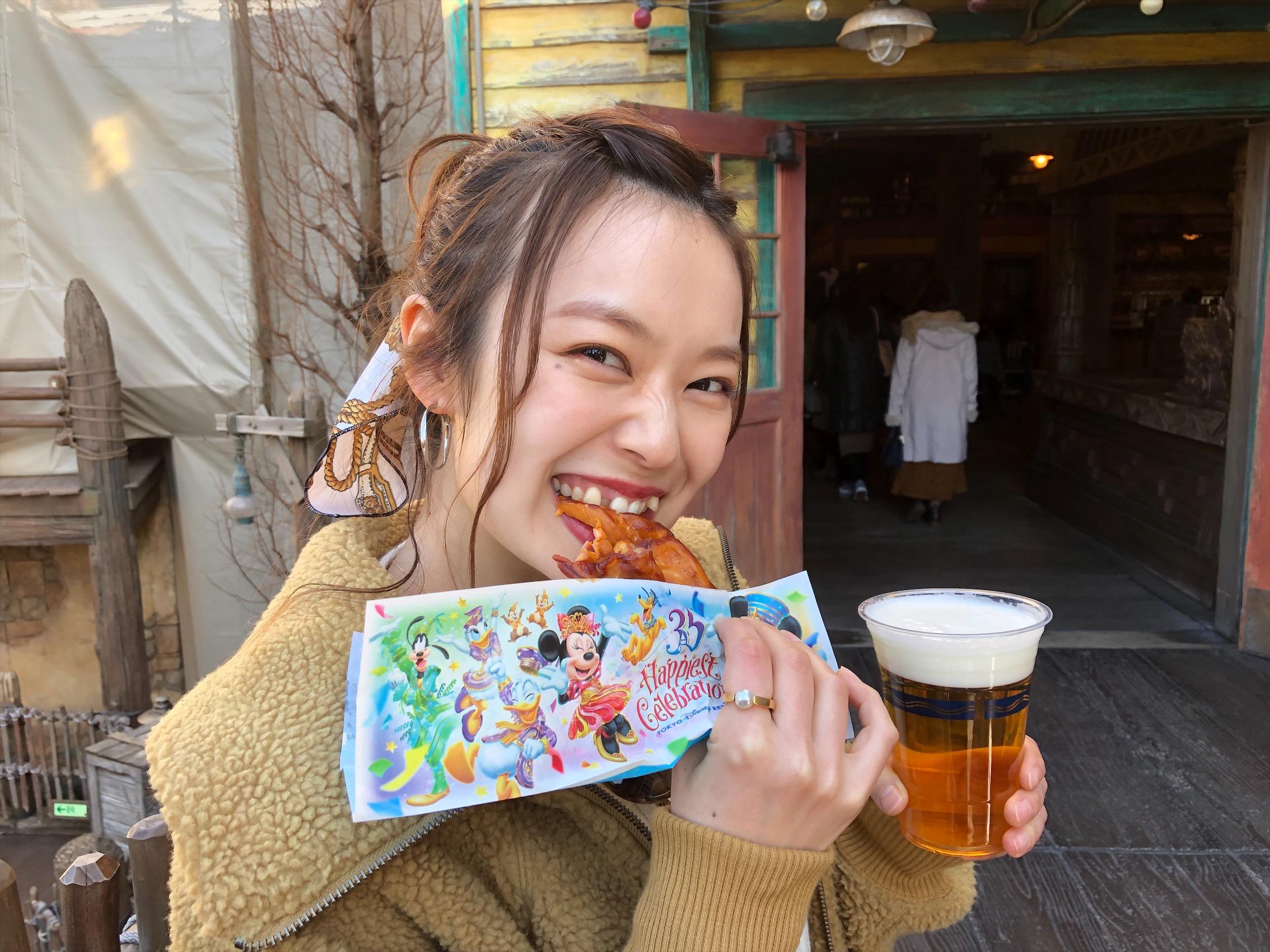 小春日和のディズニーコーデ!スカーフアレンジでカチューシャ要らず!_2